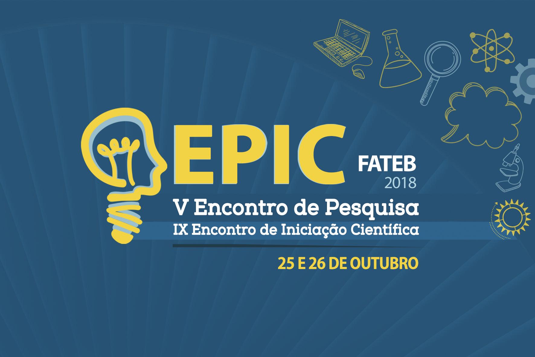 As inscrições para o EPIC FATEB 2018 estão abertas! 1864618e90f90